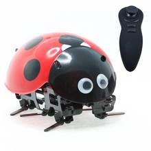 Remote Control Animal Model Ladybug Robot Toys Intelligent Electric Pet RC Simulation Robotic Insect Toys DIY Child Adult Gift(China)