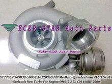 GT2256V 709838-5005S 709838 A6120960399 Turbo Turbocharger For Mercedes Benz Sprinter I Van 216 316CDI 416CDI OM612 2.7L 168HP