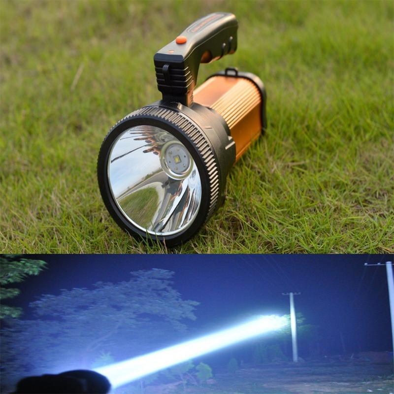 High Power Portable Spotlight Lantern Super Bright Outdoor LED Searchlight Hunting Handhold Rechargeable Waterproof Flashlight