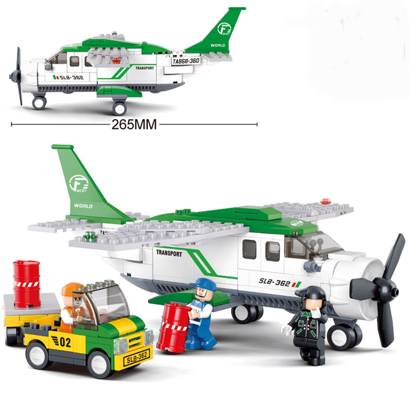 Sluban 0362 City Aviation Airport Airplane Building Bricks Blocks Sets Kids Toys Compatible Lepine City Planes hot city series aviation private aircraft lepins building block crew passenger figures airplane cars bricks toys for kids gifts
