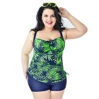 Split Printing Swimwear Super Big European And American Swimsuit 6XL Nylon High Elasticity Durable Bikini 2017