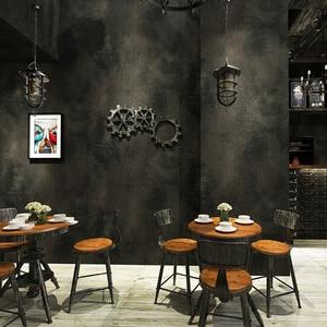 Image 2 - レトロ無地グレーセメントpvcビニール壁紙ルームバーカフェレストラン衣料品店の背景壁紙ロール
