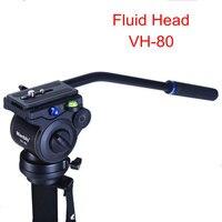 Manbily VH-80 Video Kamera Sönümleme Sıvı Tripod Başkanı Panoramik Hidrolik Kafa Kaymak Monopod için DSLR Kamera Çekim Video Film