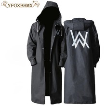YFGXBHMX Travel Portable Ryggsäck Raincoat Long Section Tide Vattentät Trench Coat Hooded Raincoat