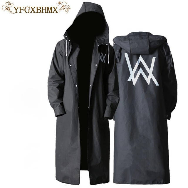 YFGXBHMX Travel Portable Backpack Raincoat Long Section Tide Waterproof Trench Coat Hooded Raincoat