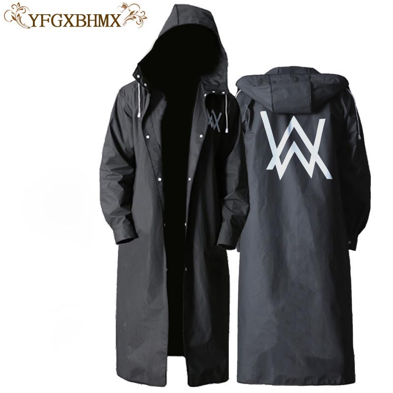 YFGXBHMX Travel Portable Backpack Raincoat Long Section Tide Waterproof Trench Coat Hooded Raincoat ...