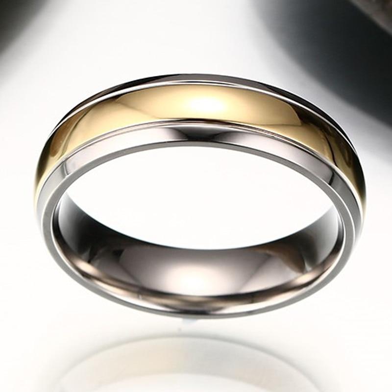 Two Tone Titanium Ring Newport Wedding Engagement Anniversary Band for Men Women Friendship Jewelry
