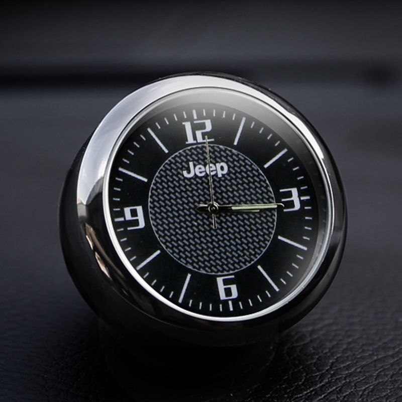 Free Shipping Car Decoration Car Clock Styling Watch Car Interior Electronic Watch For Jeep JEEP Wrangler Guide Freedom Light