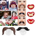 Funny Silicone Baby Mustache Pacifier Dummy Nipple Teethers Soother Joke Prank Toddler Pacy Orthodontic Teat for Chiristmas Gift