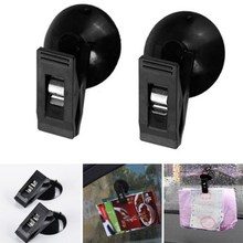 1 Pair Car Tickets Clip Auto Windshield Sunglasses Mount Holder with Suction Cup Household Towels Holder 3 Colors