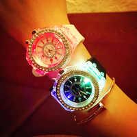Luxury Brand Men Illuminated LED Light Watch Women Watches Wristwatch Boy Girl Children Wrist Watch Student Birthday Gift Kid