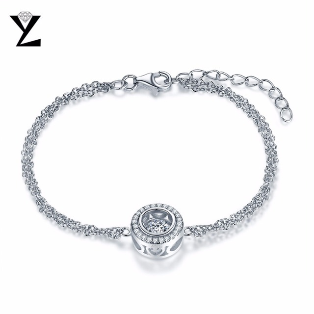82df6e16bdf YL Dancing Round 925 Sterling Silver Friendship Bracelets for Women Best  Friends Wholesale Fashion Jewelry for Wedding Party