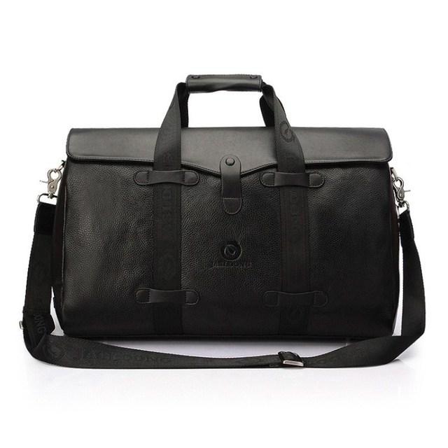 Novo 2017 masculino bolsa grande capacidade de saco de viagem da bagagem do couro genuíno, bolsa de negócios dos homens, tamanho grande breve caso