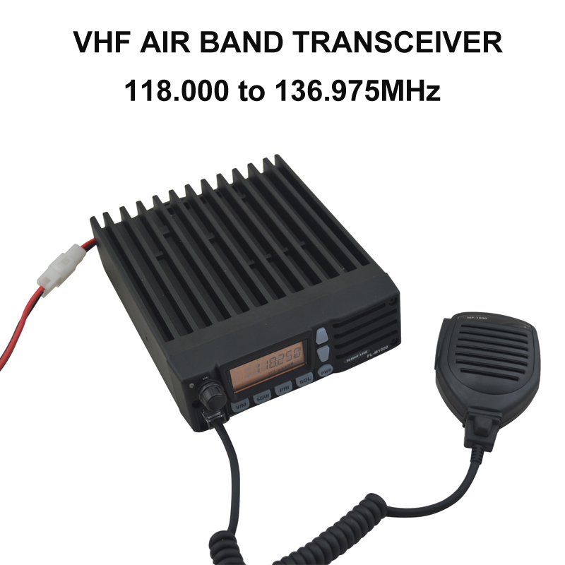 VHF AIR BAND Mobile Radio 118.000-136.975MHz MOBILE TRANSCEIVER Vehicle Car Two-way Radio Walkie Talkie FL-M1000A