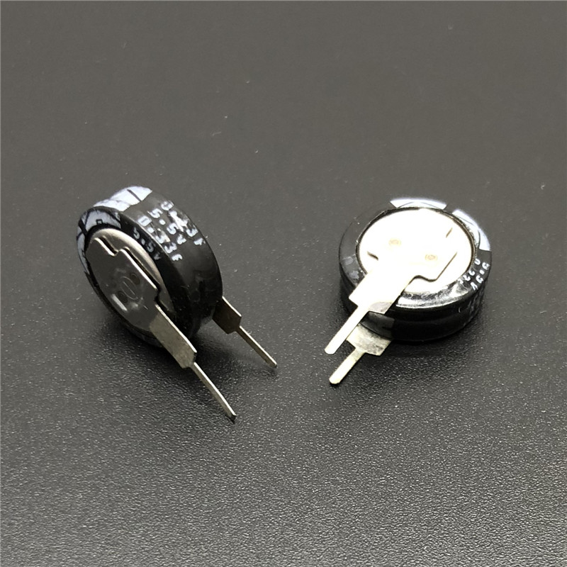 2Pcs 5.5 V 1.0F Universal Super Capacitor V-Type Button Smart 5mm Capacitance