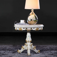 Wood Furniture Design Round Side Table Classic Luxury Style Furniture Small Dining Table Free