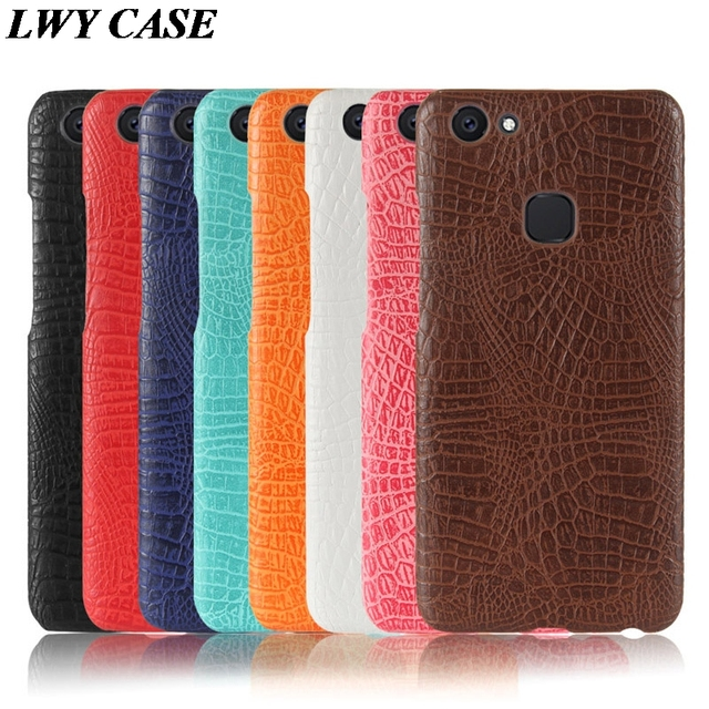 new style e011d a4626 US $4.5 |For VIVO V7 Plus / Vivo Y79 Luxury Crocodile PU Leather Skin Hard  Back Cover Phone Case-in Fitted Cases from Cellphones & Telecommunications  ...