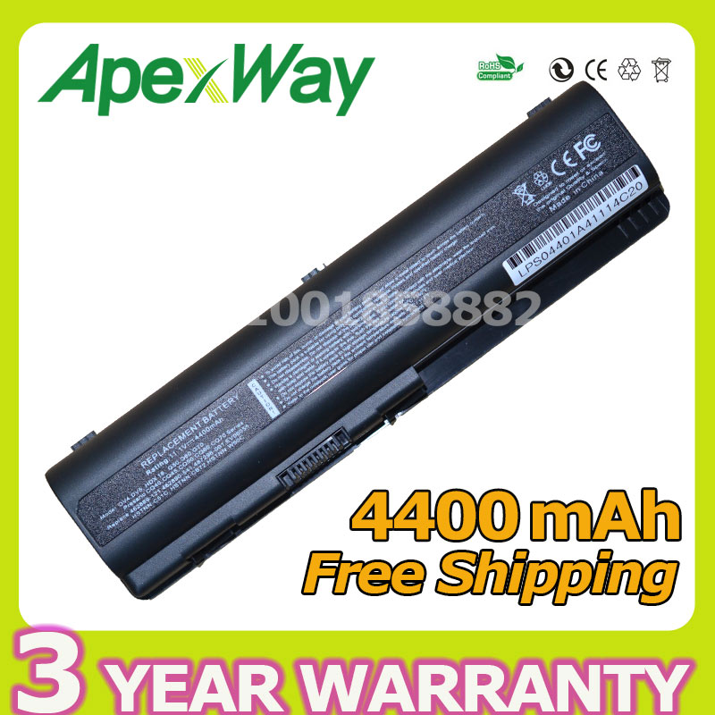 Apexway 4400mAh Laptop Battery For HP Presario CQ45 CQ50 CQ41 for Pavilion dv4-2000 dv4 497694-001 513775-001 516915-001 EV06055