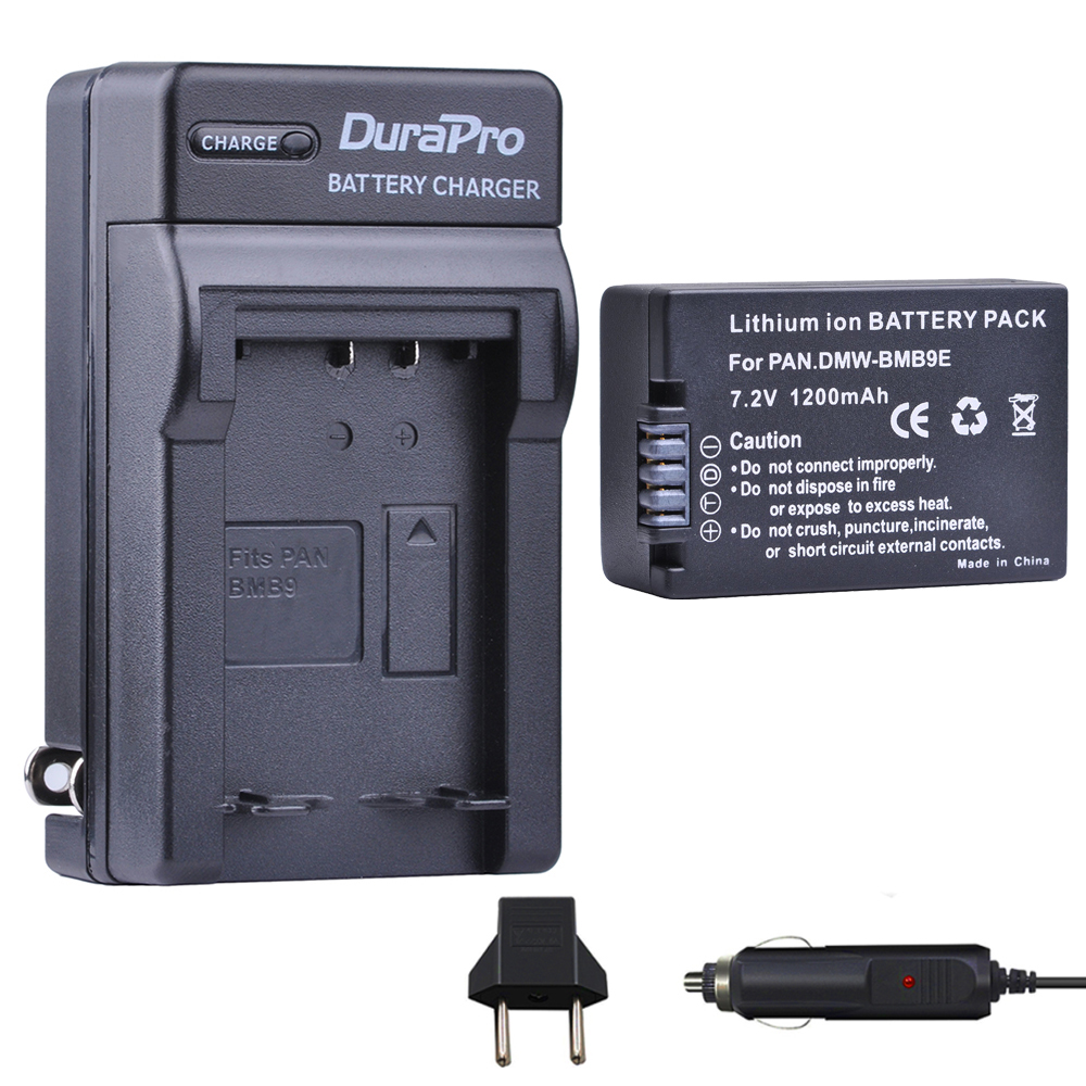 1pcs DMW-BMB9 DMW-BMB9E DMW BMB9 Battery + Car Charger For Panasonic Lumix DMC FZ40K FZ45K FZ47K FZ48K FZ60 FZ70 FZ100 FZ150