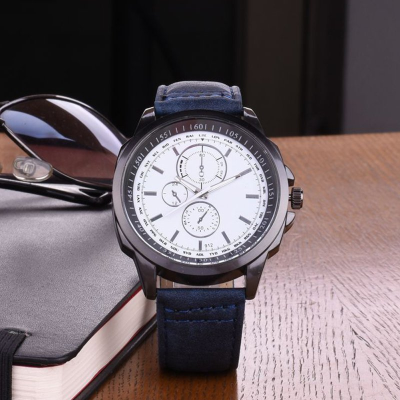 Men Fshion Watch Reloje Casual Watches Female Faux Leather Quartz Analog Unisex Wrist Watch ...