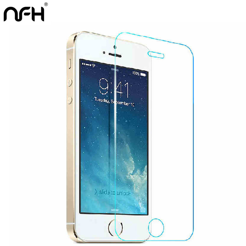5pcs Premium Tempered Glass for iPhone 5S X XR Xs Max