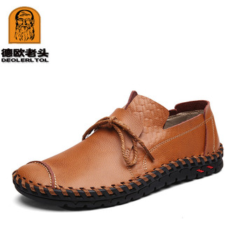 2018 Autumn Shoes Genuine Leather Handmade Shoes Caudal Loafers Fashion Shoes Soft Genuine Leather Loafers