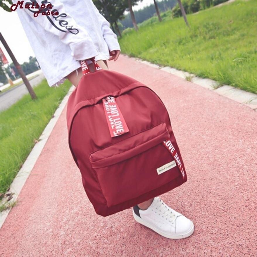 Maison Fabre Backpack  Girls Boys Letter School Bag Travel Backpack Satchel Women Shoulder Rucksack Backpack Maternity 2017d13 #4