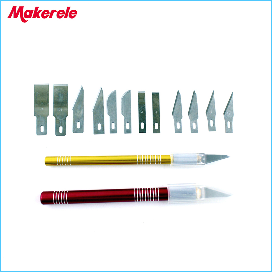12 Blades Set Carving Knife Gravers Wood Sculptural Chisel Craft Cutting Circuit Boards Images Of Engraving Diy Pcb Board Repair New