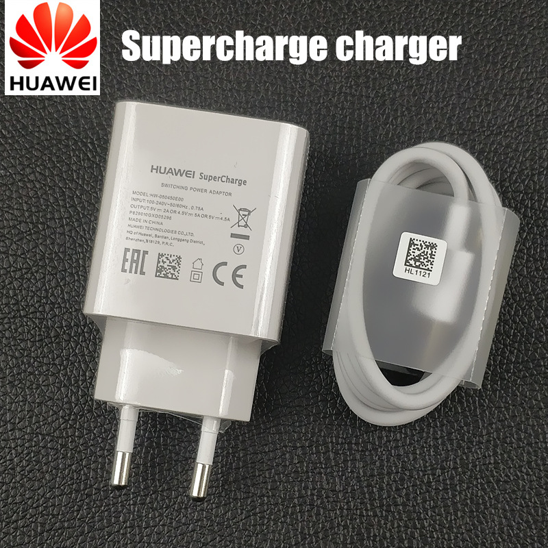 Original Huawei p20 Charger Mate 10 lite 9 Pro Plus honor 10 EU fast charger supercharge charger connect 5a usb 3.1 type c cable