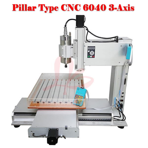 high performance 6040 CNC router machine with water tank for wood metal carving
