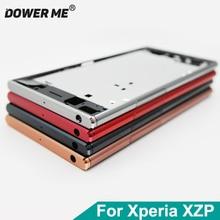 Dower Tôi Trung Khung Khung Bảng Điều Khiển Kim Loại Chassis Bezel Tấm Với Bụi Cắm Bìa Nút Đối Với Sony Xperia XZ Cao Cấp g8142 G8141