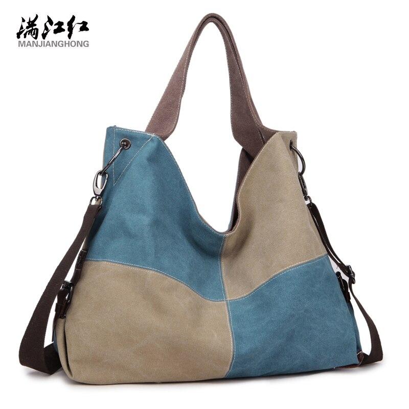 8cf339849 2018 de alta qualidade mulheres Famosas Marcas de moda da lona Do Vintage  ombro mensageiro saco de retalhos bolsa das mulheres Bolsas Femininas