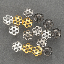 ZHUKOU 100PCS Hot Flower Bead End Cap For Jewelry Making Findings Needlework Diy Necklace Bracelet Accessories Wholesale PH1