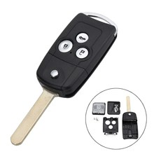 3 Buttons Car Remote Flip Key Fob Case Shell Upgrade For Honda for Civic for Accord Jazz CRV