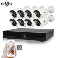 Hiseeu 8CH 1080P HD NVR Kit POE CCTV System 8PCS Cameras 2 0MP Outdoor IP Camera