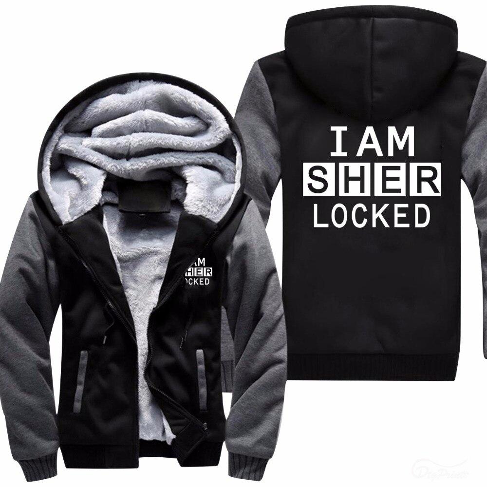 New Sherlock Holmes Shylock Sherlocked Hoodie Logo Winter JiaRong Fleece Mens Sweatshirts Free Shipping USA Size fast ship 5-10