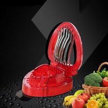 2017 Precipitó Cocina Frutas Verduras Herramientas Fresa Fruta Cortada Dispositivo De Corte Del Color Del Caramelo Patrón de Corte máquina de Cortar de Acero Inoxidable
