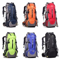 Pratical 50L Waterproof Outdoor Hiking Backpack Camping Travel Bags Climbing Backpack Knapsack With Rain Cover