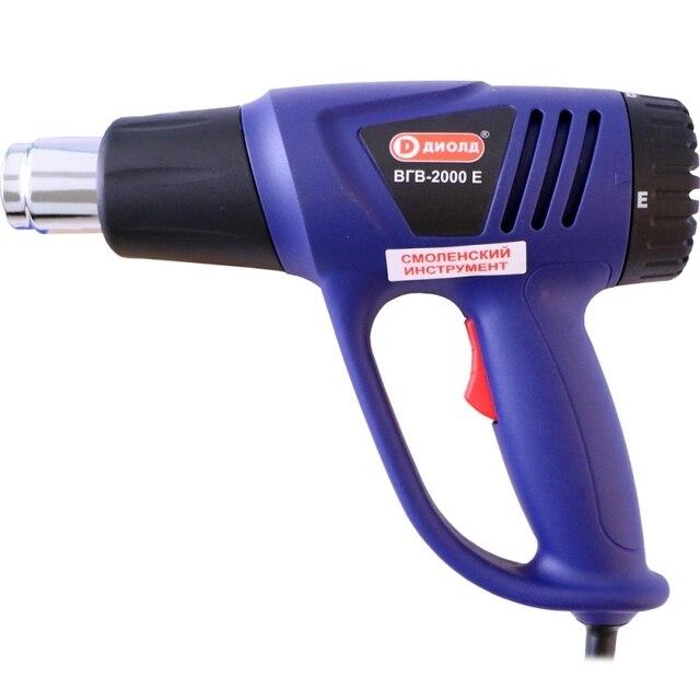 Фен технический Диолд ВГВ-2000 Е (Мощность 2000Вт, 2 режима работы - температура 70-250/70-450, защита от перегрева)