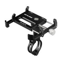 Akcesoria rowerowe GUB Plus 6 aluminiowy uchwyt na telefon rowerowy do 3 5-6 2 cala Smartphone regulowany uchwyt do montażu na stojaku na telefon tanie tanio Ładunków regały Stop 3 6-6 2inch V hamulca Black Red Titanium Bike Phone Stand Mount Bracket 22 2mm-31 8mm 55-100MM Phone Holder