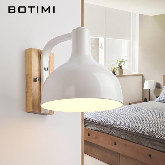 BOTIMI Nordic Bianco Lampada Da Parete Per Soggiorno E27 Camera Da ...