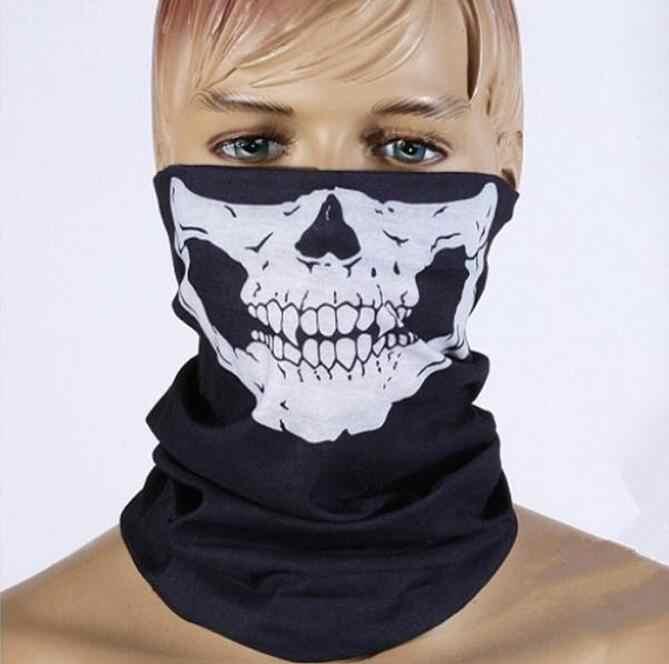 Robesbon Bersepeda Tengkorak Masker Pria Wanita Sepeda Setengah Wajah Topeng Jilbab Outdoor Bandana Ikat Kepala Sepeda Sihir Syal Bersepeda Peralatan