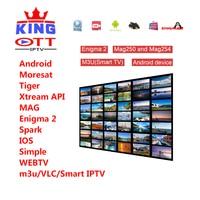 KING IPTV 1 year M3U Subscription Italy French Spain Portugal Poland Albania UK Canada USA Turkish India BestHD leadcool qhdtv