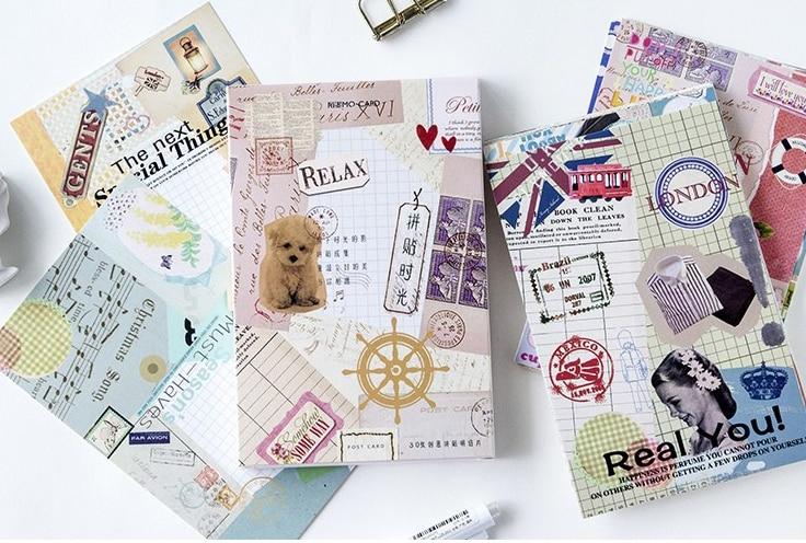 14.3cm*9.3cm Colorful Picture Paper Postcard(1pack=30pieces)