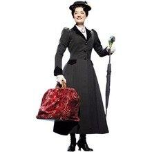 Mary Poppins косплей костюм куртка платье на Хэллоуин для взрослых костюм косплей мульти-стили для выбора
