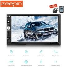Zeepin Зеркало Ссылка автомобиля mp5 плеер AM FM RDS Универсальный 2 Дин Bluetooth Радио тюнер заднего вида Камера рулевого управления колеса Управление