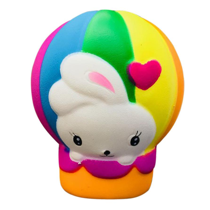 MUQGEW 2018 Fun Stress Reliever Gifts Cute Hot Air Balloon Scented Cream Squeeze Decompression Toys Relaxtoo Squeeze
