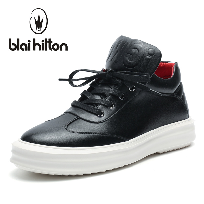 Blaibilton 2017 High Top Quality PU Men Shoes Fashion Personality Letter Platform Mens Shoes Casual Designer Black Blue SD6115 gram epos men casual shoes top quality men high top shoes fashion breathable hip hop shoes men red black white chaussure hommre