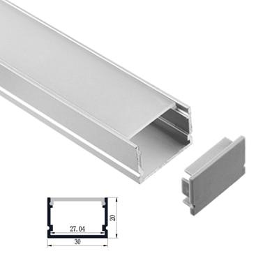 U type Slim LED aluminum profile for led bar light wardrobe light counter light sales promotion