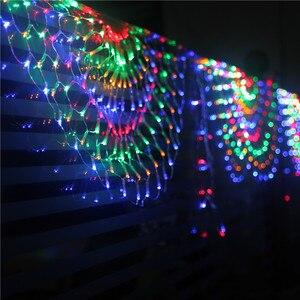 Image 2 - 3M RGB 3peacocks LED Outdoor Indoor LED Fairy String Curtain Light Xmas Party Wedding Celebration courtyard Decoration 110V 220V